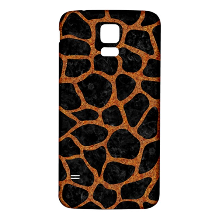 SKIN1 BLACK MARBLE & RUSTED METAL Samsung Galaxy S5 Back Case (White)