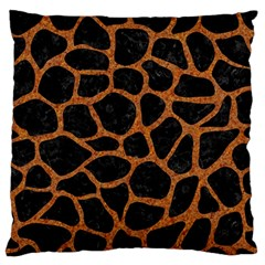Skin1 Black Marble & Rusted Metal Large Flano Cushion Case (two Sides)