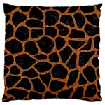 SKIN1 BLACK MARBLE & RUSTED METAL Large Flano Cushion Case (Two Sides) Back