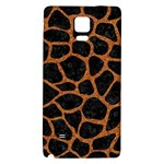 SKIN1 BLACK MARBLE & RUSTED METAL Galaxy Note 4 Back Case Front