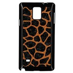 SKIN1 BLACK MARBLE & RUSTED METAL Samsung Galaxy Note 4 Case (Black) Front