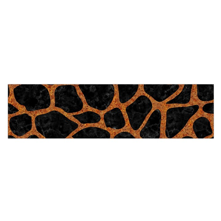 SKIN1 BLACK MARBLE & RUSTED METAL Satin Scarf (Oblong)