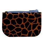 SKIN1 BLACK MARBLE & RUSTED METAL Large Coin Purse Back