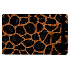 Skin1 Black Marble & Rusted Metal Apple Ipad Pro 12 9   Flip Case
