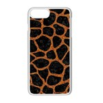 SKIN1 BLACK MARBLE & RUSTED METAL Apple iPhone 7 Plus White Seamless Case Front