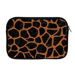 SKIN1 BLACK MARBLE & RUSTED METAL Apple MacBook Pro 17  Zipper Case Front