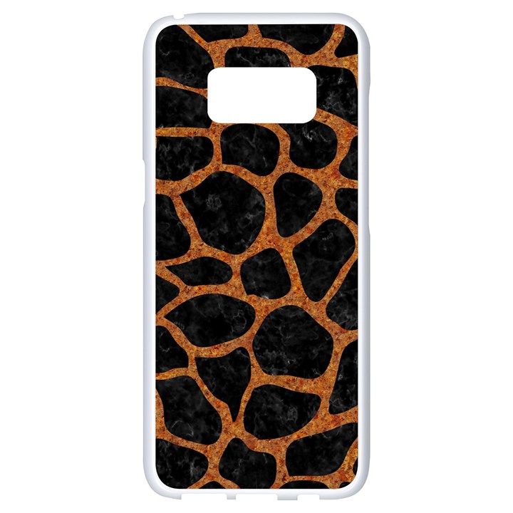 SKIN1 BLACK MARBLE & RUSTED METAL Samsung Galaxy S8 White Seamless Case