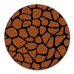 SKIN1 BLACK MARBLE & RUSTED METAL (R) Round Mousepads Front