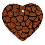 SKIN1 BLACK MARBLE & RUSTED METAL (R) Ornament (Heart) Front