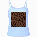 SKIN1 BLACK MARBLE & RUSTED METAL (R) Baby Blue Spaghetti Tank Front