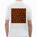 SKIN1 BLACK MARBLE & RUSTED METAL (R) Golf Shirts Back