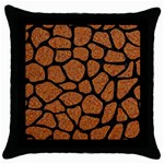 SKIN1 BLACK MARBLE & RUSTED METAL (R) Throw Pillow Case (Black) Front