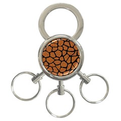 Skin1 Black Marble & Rusted Metal (r) 3 Ring Key Chains