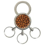 SKIN1 BLACK MARBLE & RUSTED METAL (R) 3-Ring Key Chains Front