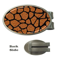 Skin1 Black Marble & Rusted Metal (r) Money Clips (oval)