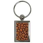 SKIN1 BLACK MARBLE & RUSTED METAL (R) Key Chains (Rectangle)  Front