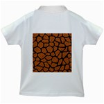SKIN1 BLACK MARBLE & RUSTED METAL (R) Kids White T-Shirts Back