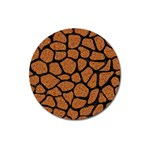 SKIN1 BLACK MARBLE & RUSTED METAL (R) Magnet 3  (Round) Front
