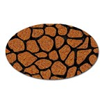 SKIN1 BLACK MARBLE & RUSTED METAL (R) Oval Magnet Front