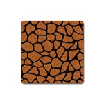SKIN1 BLACK MARBLE & RUSTED METAL (R) Square Magnet Front