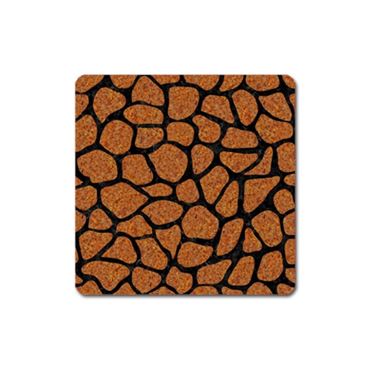 SKIN1 BLACK MARBLE & RUSTED METAL (R) Square Magnet