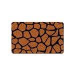 SKIN1 BLACK MARBLE & RUSTED METAL (R) Magnet (Name Card) Front