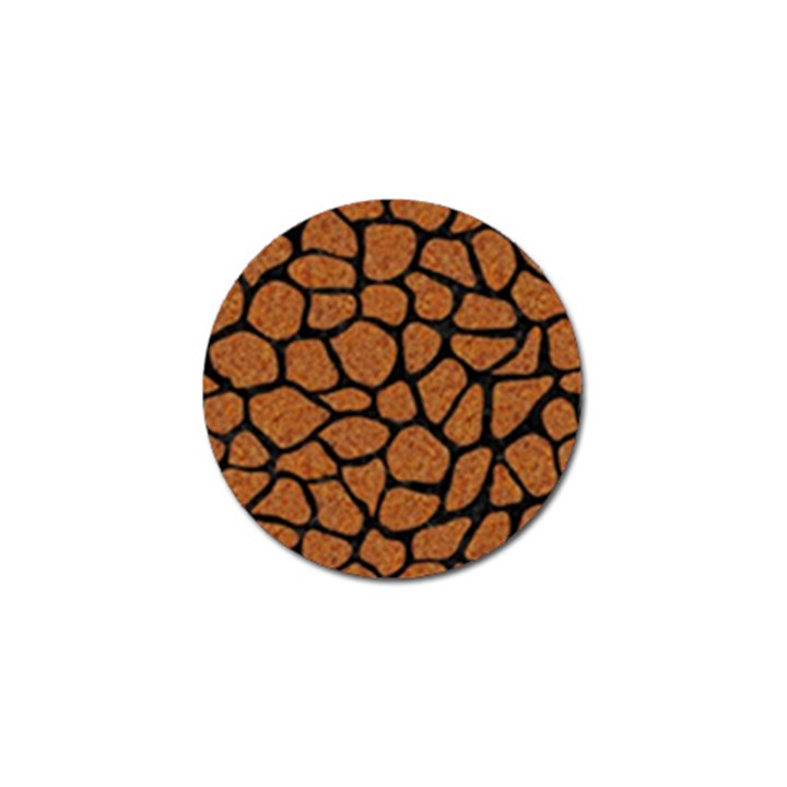 SKIN1 BLACK MARBLE & RUSTED METAL (R) Golf Ball Marker (4 pack)