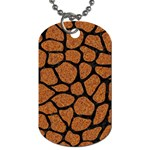SKIN1 BLACK MARBLE & RUSTED METAL (R) Dog Tag (Two Sides) Back