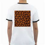 SKIN1 BLACK MARBLE & RUSTED METAL (R) Ringer T-Shirts Back