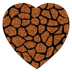 SKIN1 BLACK MARBLE & RUSTED METAL (R) Jigsaw Puzzle (Heart) Front
