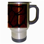 SKIN1 BLACK MARBLE & RUSTED METAL (R) Travel Mug (Silver Gray) Right