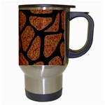SKIN1 BLACK MARBLE & RUSTED METAL (R) Travel Mugs (White) Right