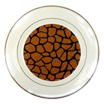 SKIN1 BLACK MARBLE & RUSTED METAL (R) Porcelain Plates Front