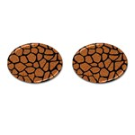 SKIN1 BLACK MARBLE & RUSTED METAL (R) Cufflinks (Oval) Front
