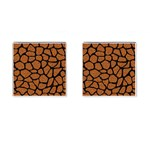 SKIN1 BLACK MARBLE & RUSTED METAL (R) Cufflinks (Square) Front