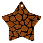 SKIN1 BLACK MARBLE & RUSTED METAL (R) Star Ornament (Two Sides) Back