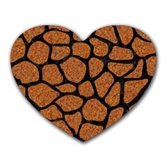 Skin1 Black Marble & Rusted Metal (r) Heart Mousepads