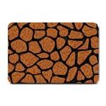 SKIN1 BLACK MARBLE & RUSTED METAL (R) Small Doormat  24 x16 Door Mat - 1