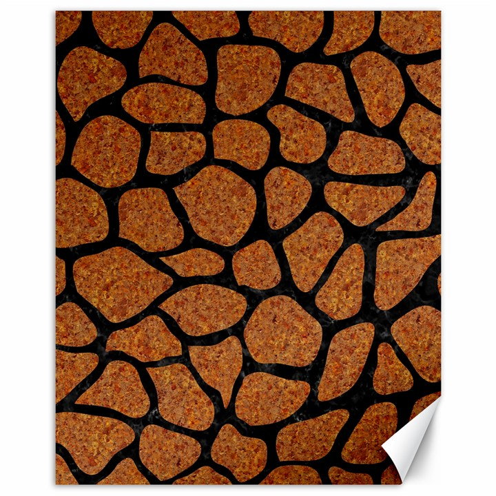 SKIN1 BLACK MARBLE & RUSTED METAL (R) Canvas 11  x 14