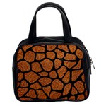 SKIN1 BLACK MARBLE & RUSTED METAL (R) Classic Handbags (2 Sides) Front