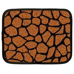 Skin1 Black Marble & Rusted Metal (r) Netbook Case (xl)
