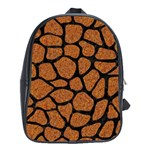 SKIN1 BLACK MARBLE & RUSTED METAL (R) School Bag (Large) Front