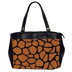Skin1 Black Marble & Rusted Metal (r) Office Handbags (2 Sides)