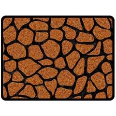 Skin1 Black Marble & Rusted Metal (r) Fleece Blanket (large)