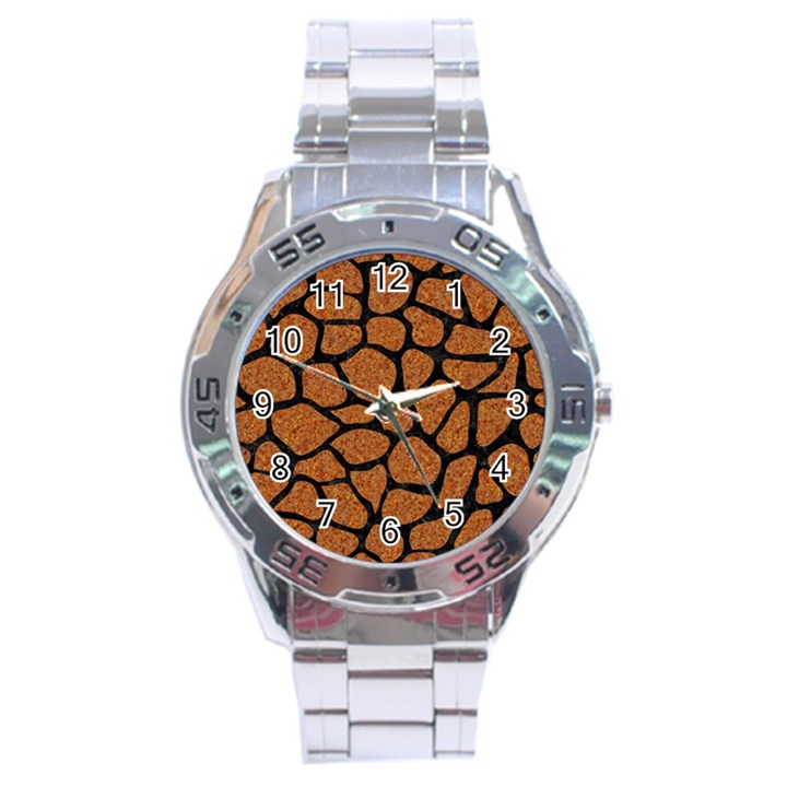 SKIN1 BLACK MARBLE & RUSTED METAL (R) Stainless Steel Analogue Watch