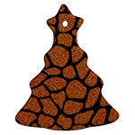 SKIN1 BLACK MARBLE & RUSTED METAL (R) Ornament (Christmas Tree)  Front