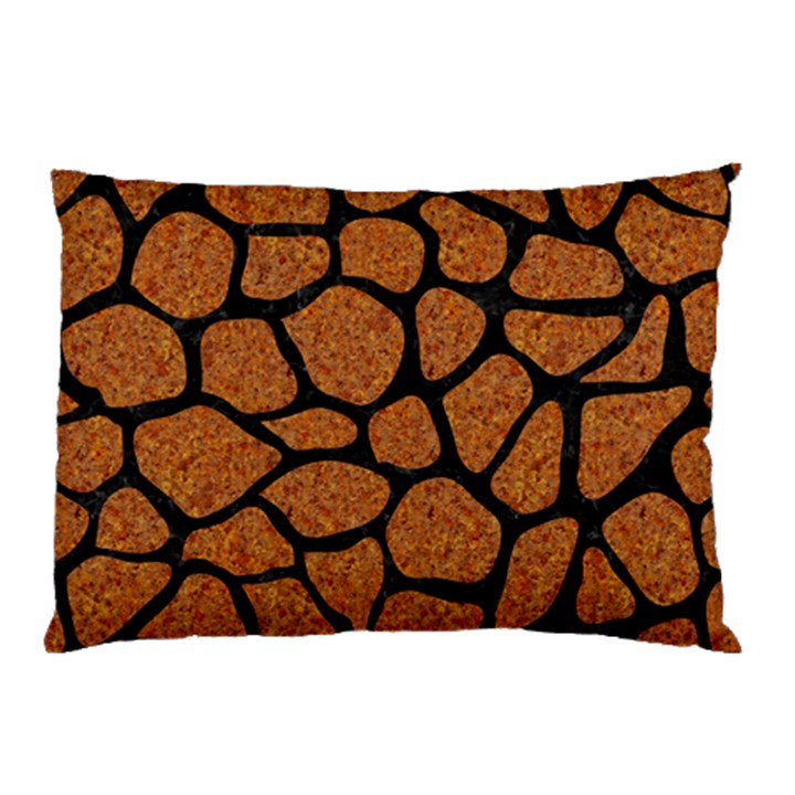 SKIN1 BLACK MARBLE & RUSTED METAL (R) Pillow Case (Two Sides)