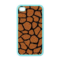 Skin1 Black Marble & Rusted Metal (r) Apple Iphone 4 Case (color)