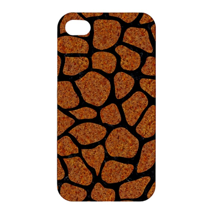 SKIN1 BLACK MARBLE & RUSTED METAL (R) Apple iPhone 4/4S Hardshell Case