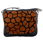 SKIN1 BLACK MARBLE & RUSTED METAL (R) Messenger Bags Front